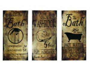 bath sign