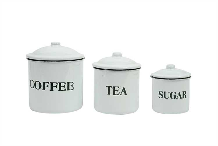 3 piece enamel canister set