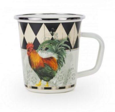 Rooster royal enamel mug