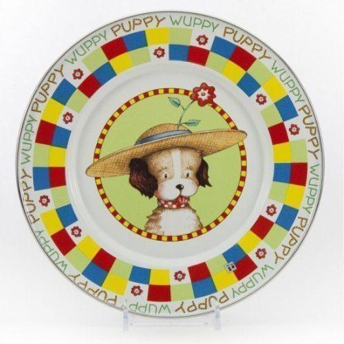 puppy enamel plate