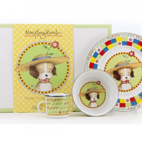 Enamelware child set-wuppy puppy