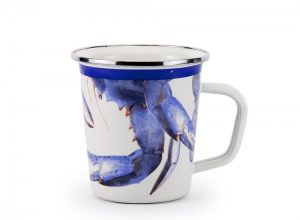 blue crab latte mug