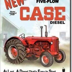 Case 500 diesel tractor tin sign